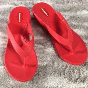 OKABASHI slip on thong low heel sandal ML